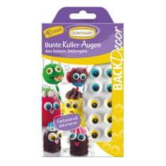 Oči na cupcaky 40ks jednotlivé barevné