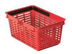 Durable Nákupní košík, červená, plast, 19 l