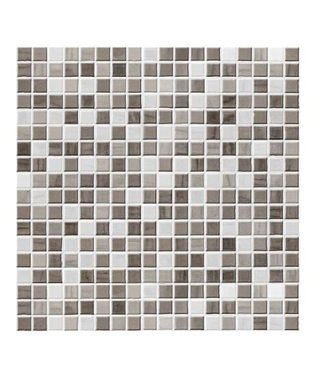 Crearreda Tile Cover Taupe 31214 Kachlík, šedo-bílá mozaika