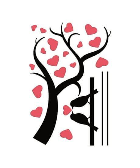 Crearreda FM L Love Ramage 58512 Větev se srdíčky a ptáčky