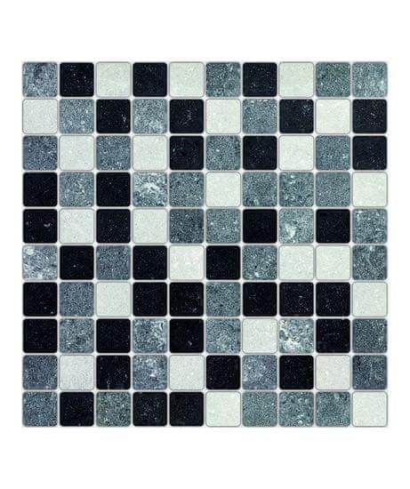 Crearreda Tile Cover Big White&Black 31217 Kachlík, černo-bílá mozaika