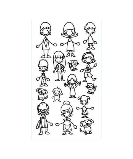 Crearreda WA XS Family 59001 Kresba postaviček rodiny