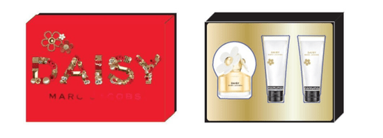 Marc Jacobs Daisy darilni set EDT toaletna voda, 75 ml + mleko za telo, 75 ml + gel za tuširanje, 75 ml