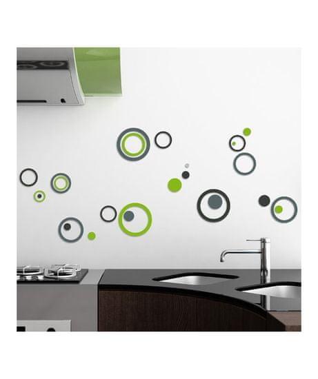 Crearreda FM M All Around 54503 Zelené a šedé kruhy