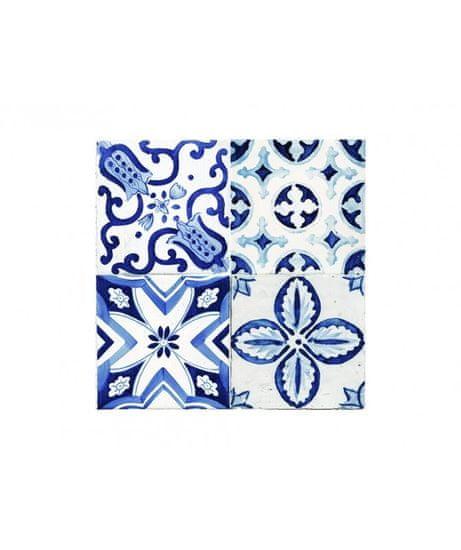 Crearreda Tile Cover Azulejos 31223 Kachlík, modro-bílé ornamenty