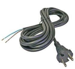 GETI Flexo šňůra 3m 2x1 napájecí kabel gumový černý H0RR-F Geti