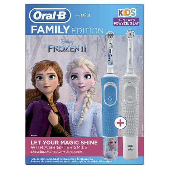 Oral-B električna zobna ščetka - družinska serija: Vitality + Vitality Kids Ledeno kraljestvo 2