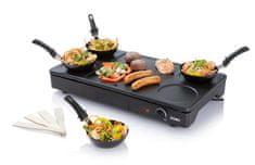 Domo Elektrický lívanečník a gril s wok pánvemi - DOMO DO8712W