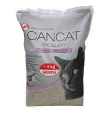 Cancat mačji posip, ultra fini, sprijemljivi, otroški puder, 12 kg + 3 kg gratis