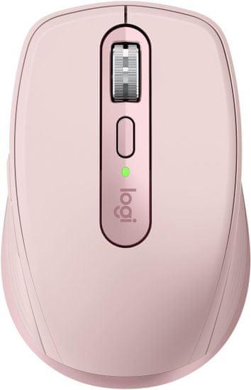 Logitech MX Anywhere 3 brezžična miška, roza