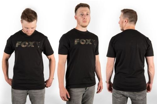 Fox Triko Black Camo Chest Print T-Shirt