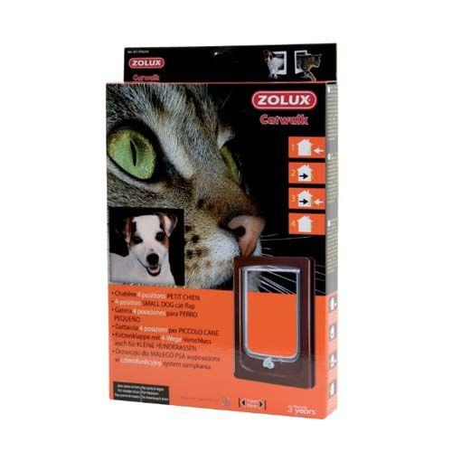 Zolux CAT DOOR ajtó macskáknak és kuytáknak négypontos zárral barna 24x4x34cm