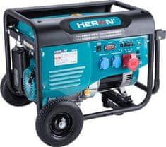 Heron Elektrocentrála rámová benzínová 400V/230V, 6,8kW/5,5kW, 15HP