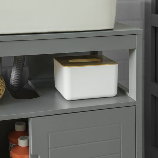 SoBuy FRG128-SG skříňka pod umyvadlo, koupelnový nábytek, skříňka pod umyvadlo, skříňka pod umyvadlo