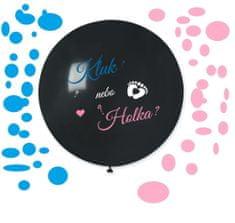 Balón latexový - Kluk nebo holka ? (+ konfety) - Gender reveal - Baby shower - 80 cm