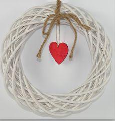 DUE ESSE božični naravni venček s srcem, Ø 25 cm