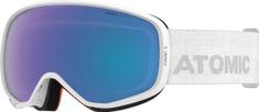 Atomic gogle narciarskie Count Photo, białe, niebieskie soczewki