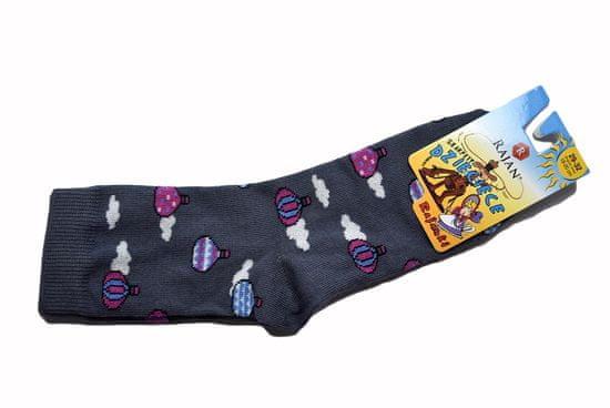"Otroške nore nogavice - ""Baloni"" - vijolična"