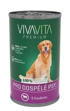 Vivavita Konzerva pro psy hovězí 12x1240 g