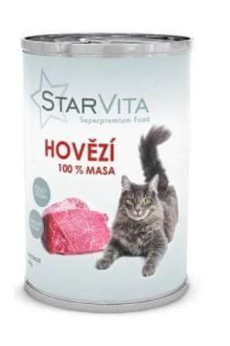 Starvita konzerva pro kočky hovězí mleté 15x400 g