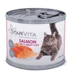 Starvita konzerva za mačke z mletim lososom, 15x200 g