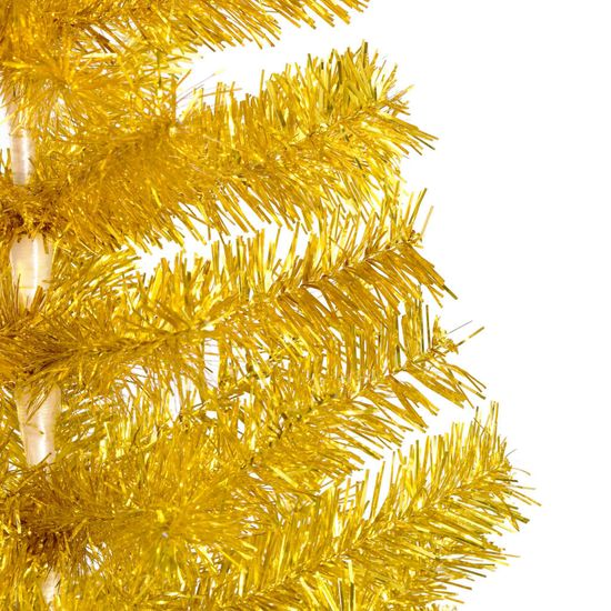 shumee Umetna novoletna jelka s stojalom zlata 210 cm PET