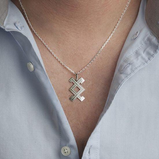 Praqia Pánsky strieborný náhrdelník Inguz KO5003_MO060_50_RH (retiazka, prívesok) striebro 925/1000