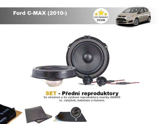 Awave SET - přední reproduktory do Ford C-MAX (2010) - Awave AWF650C
