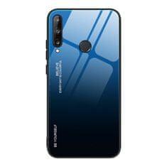 MG Gradient Glass plastika ovitek za Huawei P40 Lite E, črna/modra