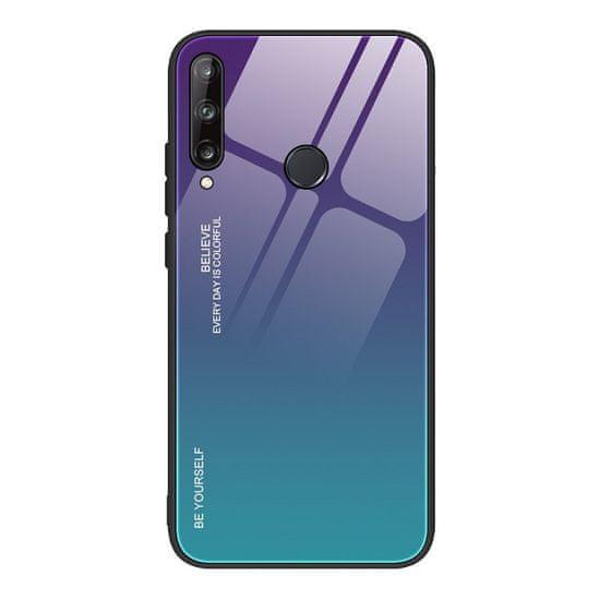 MG Gradient Glass plastika ovitek za Huawei P40 Lite E, modra/vijolična