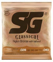 SG SGC Nylon 028 Ball End kytarové struny