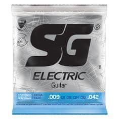 SG SGE 5145 Nickel Plated Extra Light 009 kytarové struny