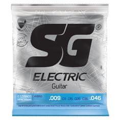 SG SGE 5350 Nickel Plated Hybrid Light 009 kytarové struny