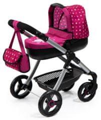 Bayer Design Kočárek pro panenky Style růžová/černá