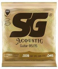 SG SGA 6684 Bronze 009 kytarové struny