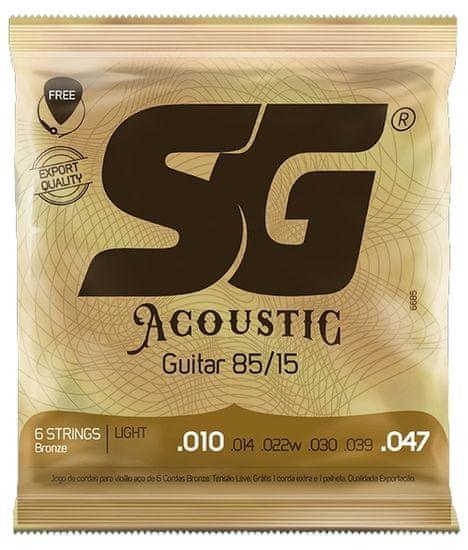 SG SGA 6685 Bronze 010 kytarové struny