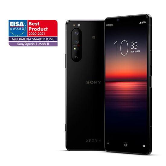 Sony Xperia 1 II mobilni telefon, črn + DARILO Sony slušalke 1000xm3, črne