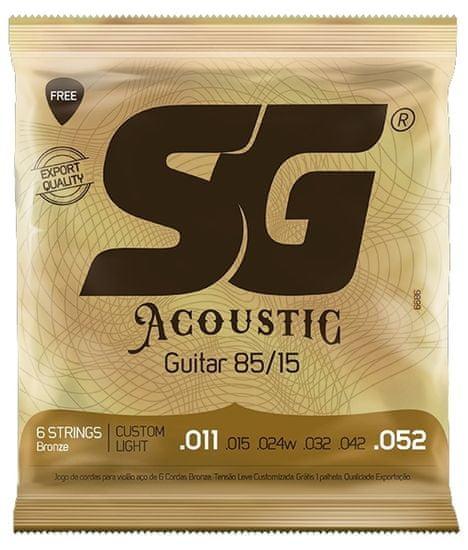 SG SGA 6686 Bronze 011 kytarové struny