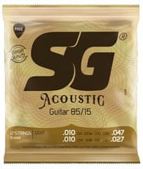 SG SGA 6688 Bronze 010-12 kytarové struny