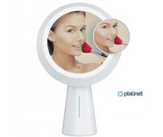 Platinet PMLY19 Makeup kozmetično ogledalo s stojalom, vgrajeno prenosno baterijo, LED osvetlitev - Odprta embalaža