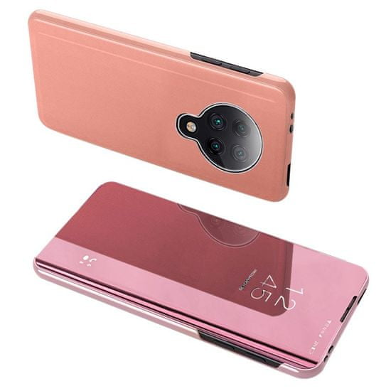 MG Clear View usnjeni ovitek za Xiaomi Redmi K30 Pro / Poco F2 Pro, roza