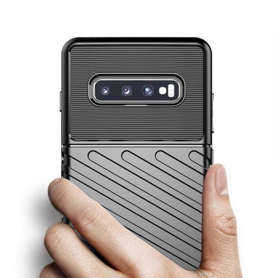 MG Thunder silikonski ovitek za Samsung Galaxy S10, črna