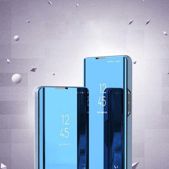 MG Clear View usnjeni ovitek za Xiaomi Redmi K30 Pro / Poco F2 Pro, srebrna