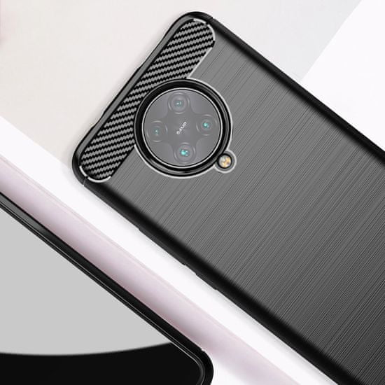 MG Carbon Case Flexible silikonski ovitek za Xiaomi Redmi K30 Pro / Poco F2 Pro, modra