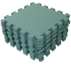 BabyDan Hrací podložka puzzle Dusty Green 90x90 cm