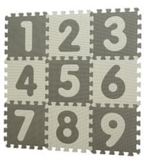 BabyDan Grey játszóalátét számokkal, kirakó, 90x90 cm