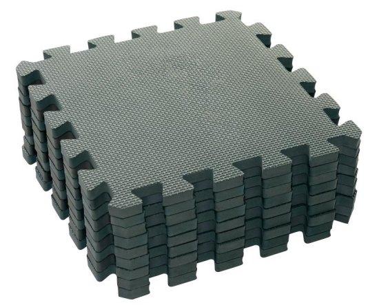 BabyDan Hrací podložka puzzle Dusty Grey 90x90 cm