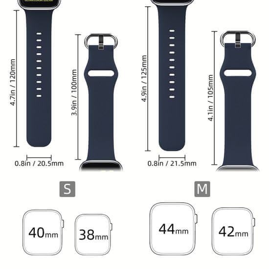 MAX Náhradní řemínek pro Apple watch MAS11 42/44mm