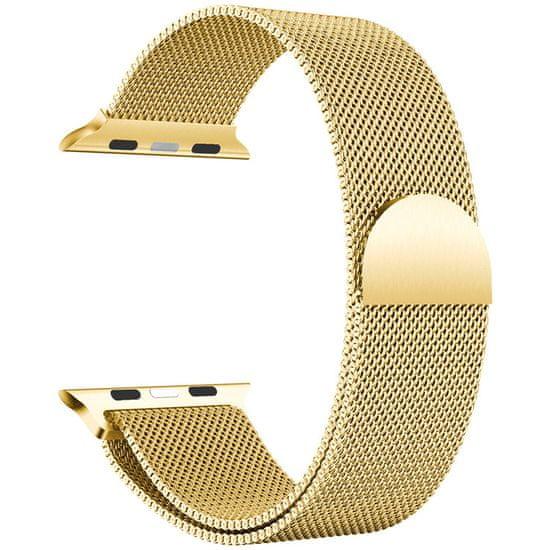 MAX Náhradní řemínek pro Apple watch MAS27 42/44mm, zlatý