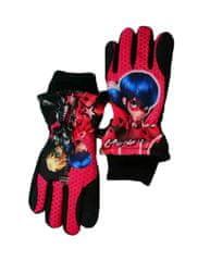 """SETINO Dekliške smučarske rokavice """"Miraculous"""" - črna - 9–10 let"""